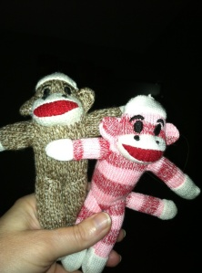 His and Her Sock Monkeys