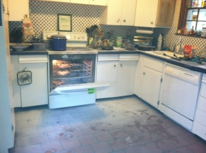 oven fire aftermath
