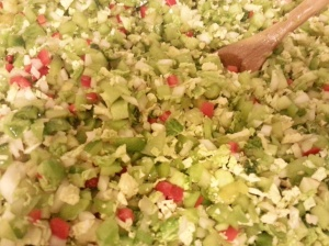 mixed veggies for green tomato chow chow